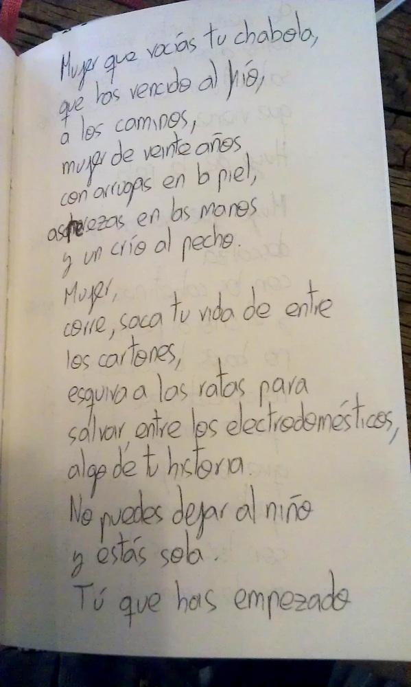 'Mujer que vacías tu chabola'. Poema. (1/4)