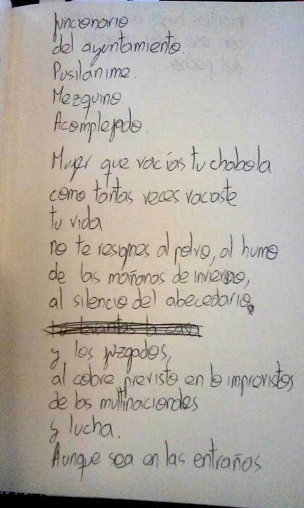'Mujer que vacías tu chabola'. Poema. (3/4)