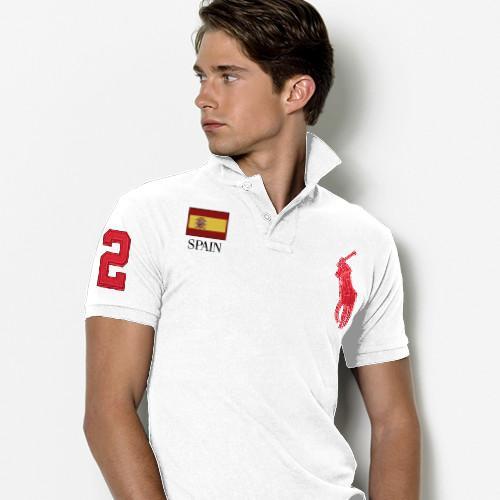 Discount-Ralph-Lauren-Slim-Custom-Fit-Polo-Espagne-Drapeau-Blanc-Rouge-Pas-Chers-2013