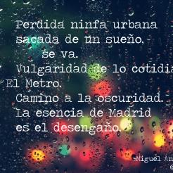 Del poema 'Desengaño'.