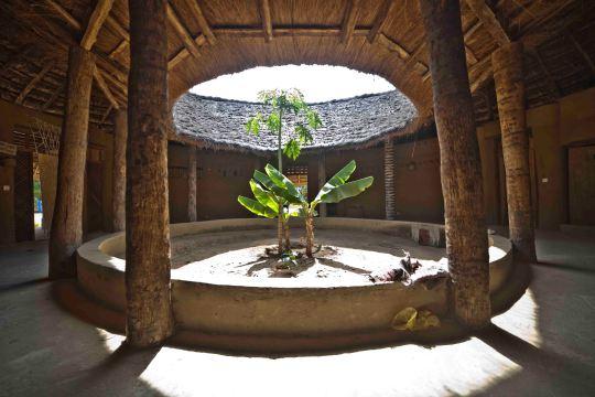 """Interior Albergue Turístico estilo """"Casa Impluvium""""."""