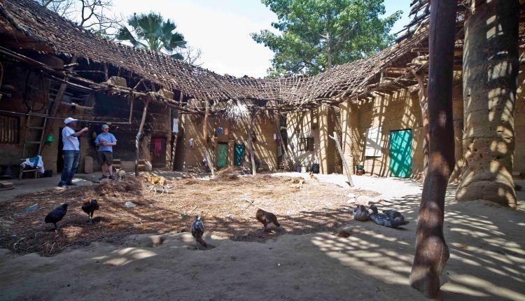 Interior de la Casa Impluvium en reconstrucción.