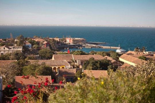 Panorámica desde la isla de Gorée
