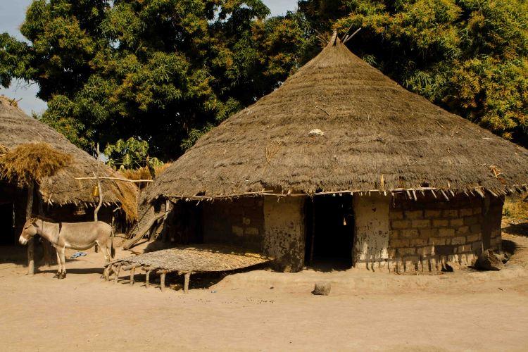 Arquitectura tradicional de la región de Kolda, en el interior de La Casamance