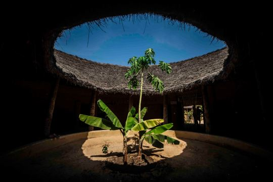 """Interior de una casa """"Impluvium"""" en el pueblo de Enampor"""